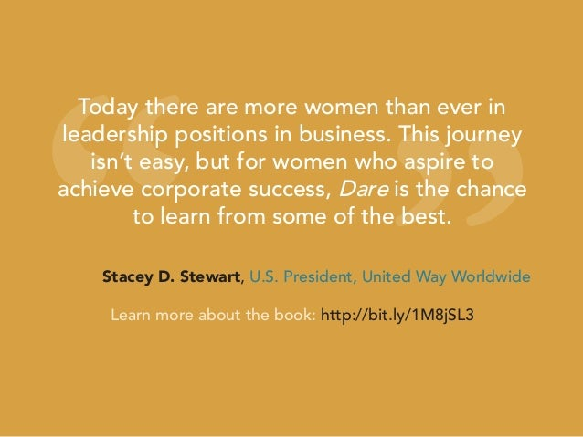 """"""" """" Today there are more women than ever in leadership positions in business. This journey isn't easy, but for women who a..."""