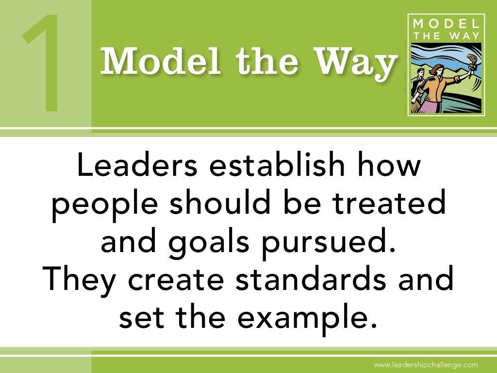 Model the Way 1Leaders establish