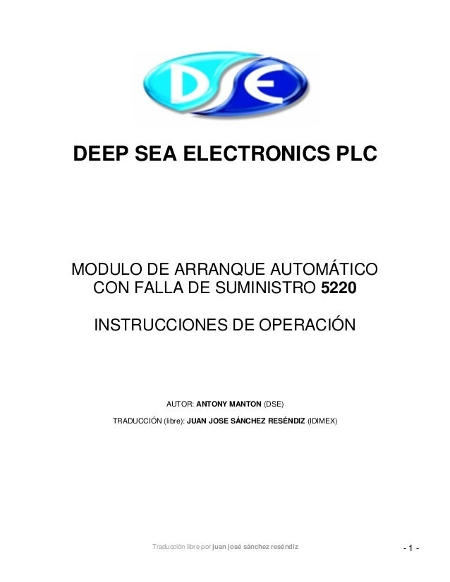 deep sea electronics 5220 manual
