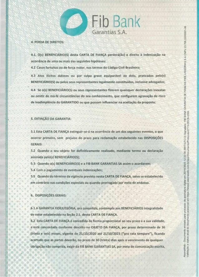 Carta de fiança do apartamento alocado por Franscico Maximiano Slide 3