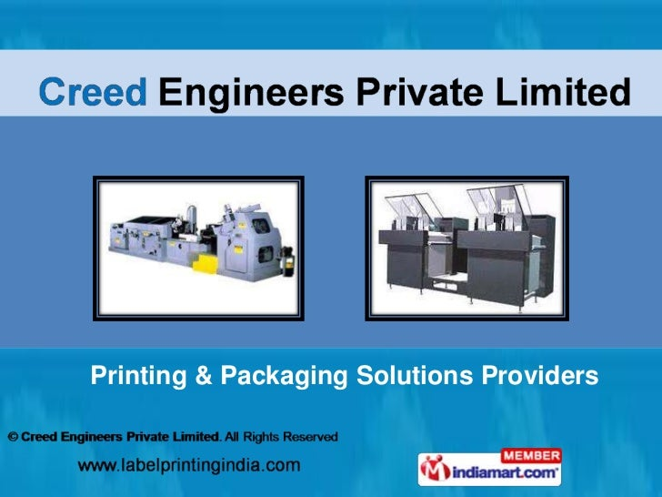 Printing & Packaging Solutions Providers