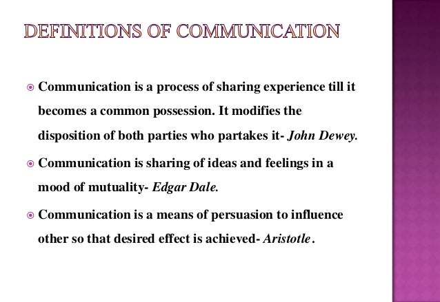 main components of communication process