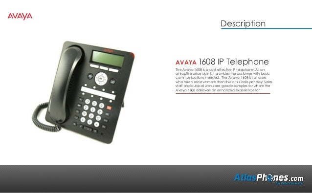 Avaya 1608 Product Overview