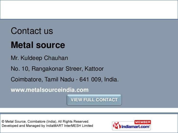 Systematic & ethical business operations</li></li></ul><li>Tamil Nadu, India<br />Product category<br /><ul><li> Virgin M...