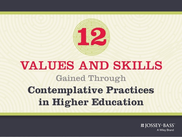 12 VALUES AND SKILLS Gained Through Contemplative Practices in Higher Education