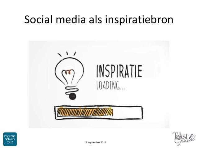 Social media als inspiratiebron 12 september 2016