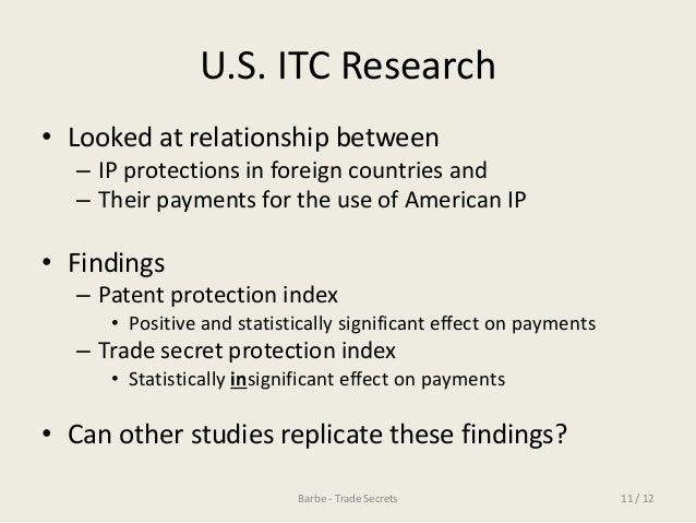 Trade secret research paper