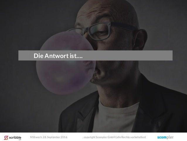 Die Antwort ist…. Mittwoch, 28. September 2016 copyright Scompler GmbH (alle Rechte vorbehalten)