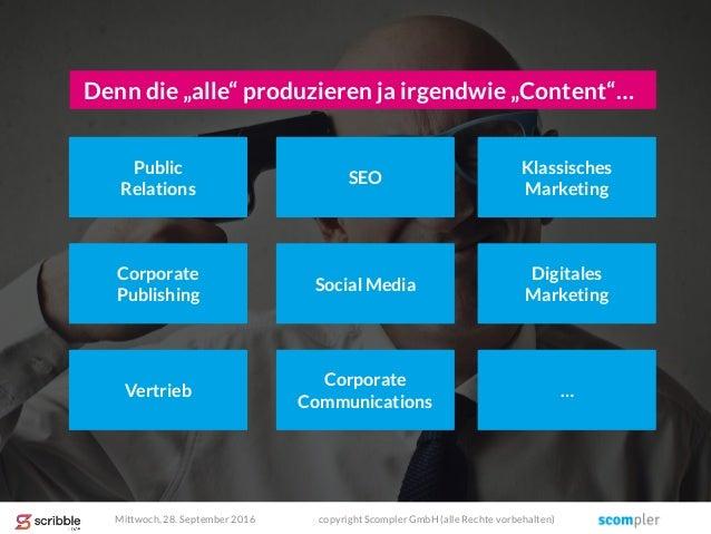 """Denn die """"alle"""" produzieren ja irgendwie """"Content""""… Public Relations SEO Klassisches Marketing Corporate Publishing Social..."""