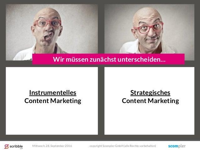 Instrumentelles Content Marketing Strategisches Content Marketing Wir müssen zunächst unterscheiden… Mittwoch, 28. Septemb...