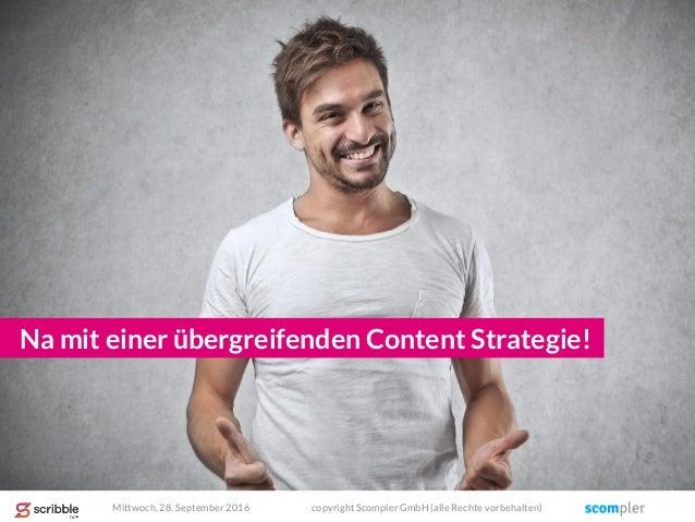 Na mit einer übergreifenden Content Strategie! Mittwoch, 28. September 2016 copyright Scompler GmbH (alle Rechte vorbehalt...