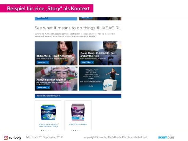 """Beispiel für eine """"Story"""" als Kontext Mittwoch, 28. September 2016 copyright Scompler GmbH (alle Rechte vorbehalten)"""