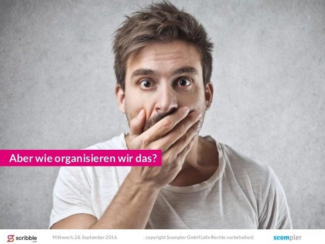 Aber wie organisieren wir das? Mittwoch, 28. September 2016 copyright Scompler GmbH (alle Rechte vorbehalten)