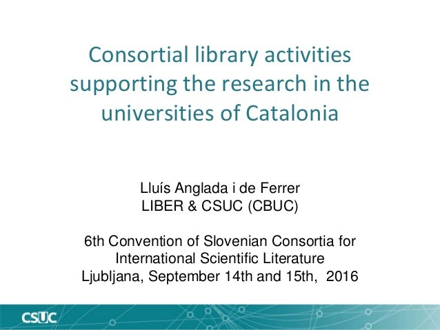Consortial Library Activities Supporting The Research In The Universi