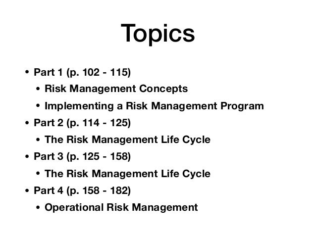 CNIT 160: Ch 3c: The Risk Management Life Cycle Slide 2