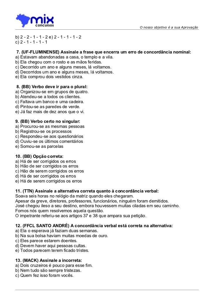 160 Exercicios Concordância E Verbal Pg27