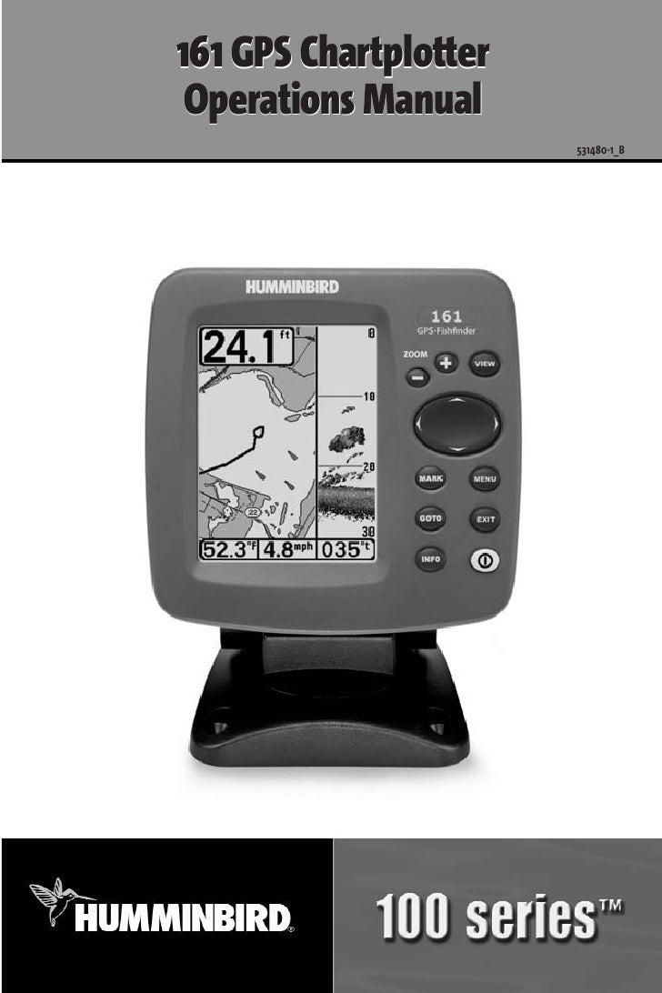 161 GPS Chartplotter  Operations Manual                        531480-1_B