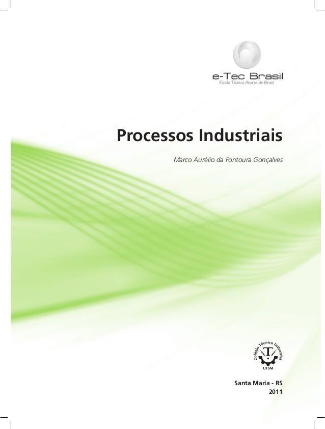 Processos Industriais Marco Aurélio da Fontoura Gonçalves 2011 Santa Maria - RS