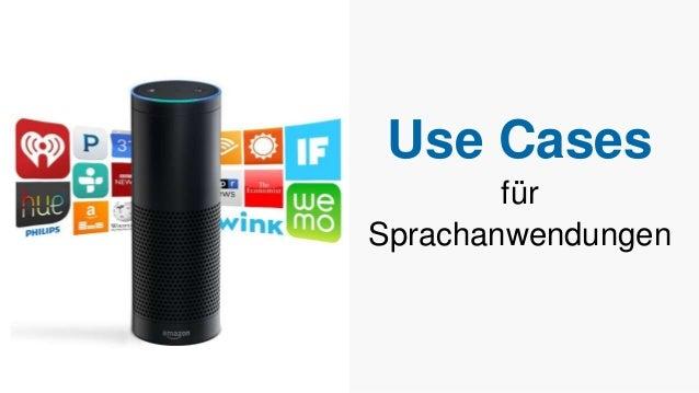 Use Cases für Sprachanwendungen