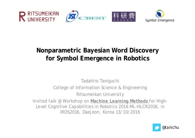 Nonparametric Bayesian Word Discovery For Symbol Emergence In