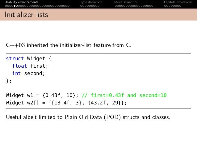 list initialization since C11  cppreferencecom