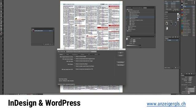 InDesign & WordPress www.anzeigergls.ch