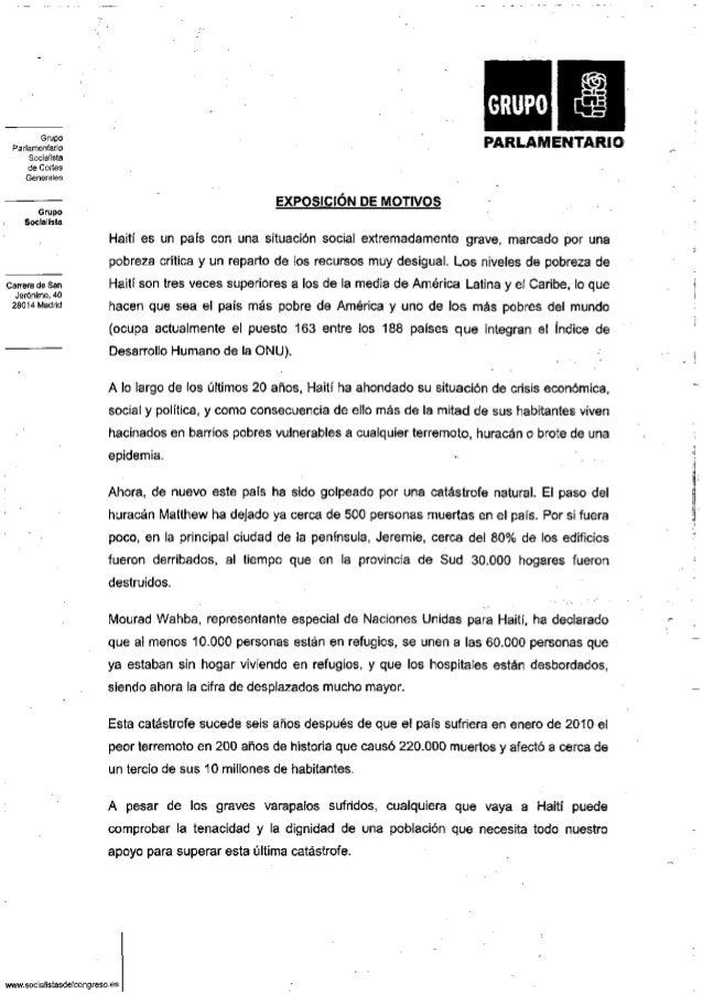 Grupo Parlamentario Socialista de Cortes Generales Grupo Socialista Carrera de San Jerónimo, 40 28014 Madrid P A R L A M E...