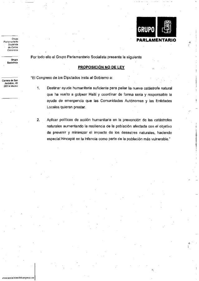 Grupo Parlamentario Socialista de Cortes Generales Grupo Socialista Carrera de San Jerónimo, 40 28014 Madrid :7 R.l i NTAR...