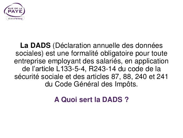 Dads 2017 Norme N4ds V01x11 Les Modifications Prises En Compte
