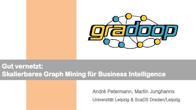 Gut vernetzt: Skalierbares Graph Mining für Business Intelligence André Petermann, Martin Junghanns Universität Leipzig & ...