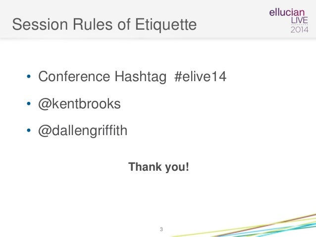 Ellucian Live 2014 Presentation on Reporting and BI