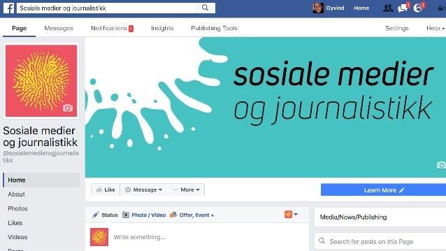 Sosiale medier og journalistikk - det skjer nå!
