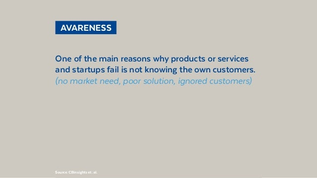 @BennoLoewenberg AVARENESS One of the main reasons why products or services and startups fail is not knowing the own cus...