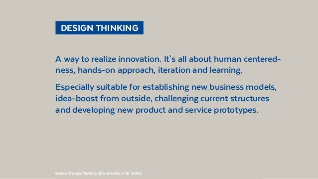 @BennoLoewenberg  DESIGN THINKING A way to realize innovation. It`s all about human centered- ness, hands-on approach, i...