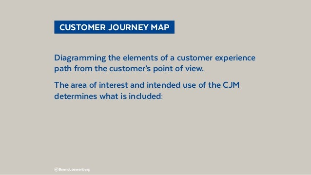 @BennoLoewenberg  CUSTOMER JOURNEY MAP Diagramming the elements of a customer experience path from the customer's point ...