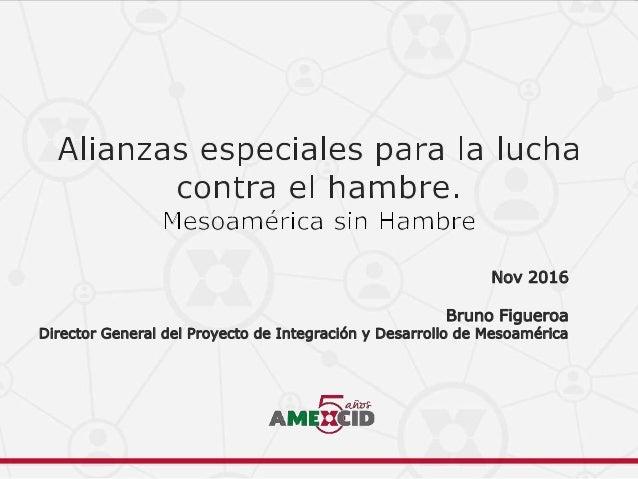 Nov 2016 Bruno Figueroa Director General del Proyecto de Integración y Desarrollo de Mesoamérica
