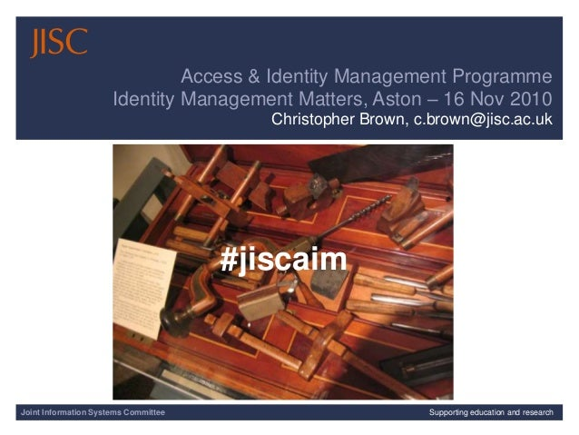 Joint Information Systems Committee 1/29/2015 | | Slide 1Joint Information Systems Committee Supporting education and rese...