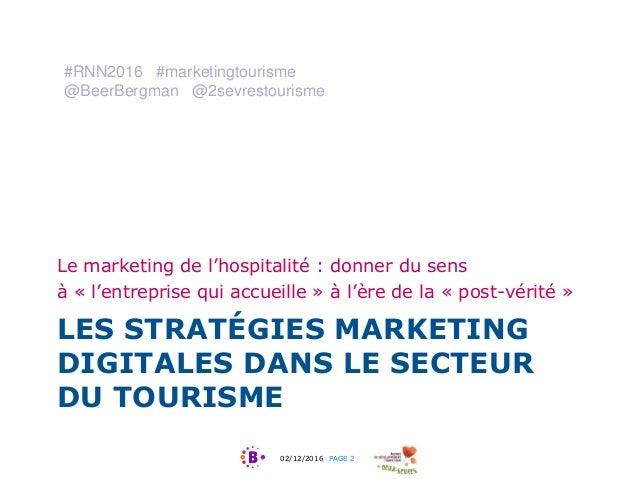 Les stratégies marketing digitales dans le secteur du tourisme Slide 2
