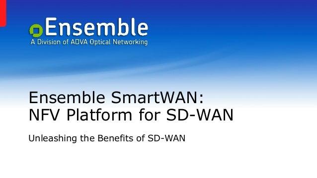 Ensemble SmartWAN: NFV Platform for SD-WAN Unleashing the Benefits of SD-WAN