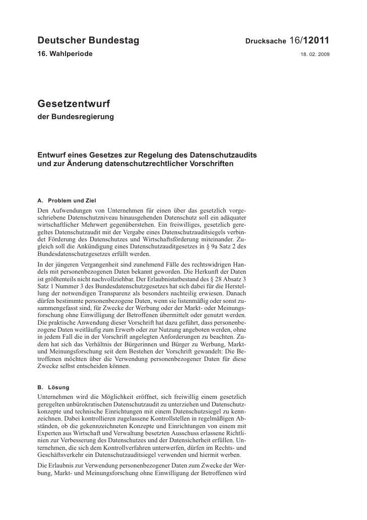 Deutscher Bundestag                                                             Drucksache   16/1201116. Wahlperiode      ...