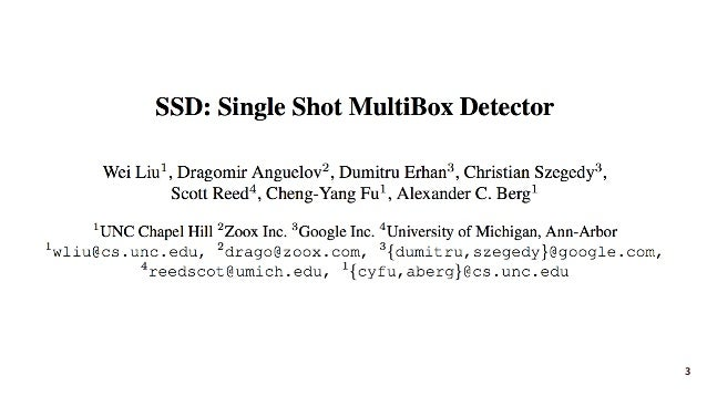 SSD: Single Shot MultiBox Detector (ECCV2016) Slide 3