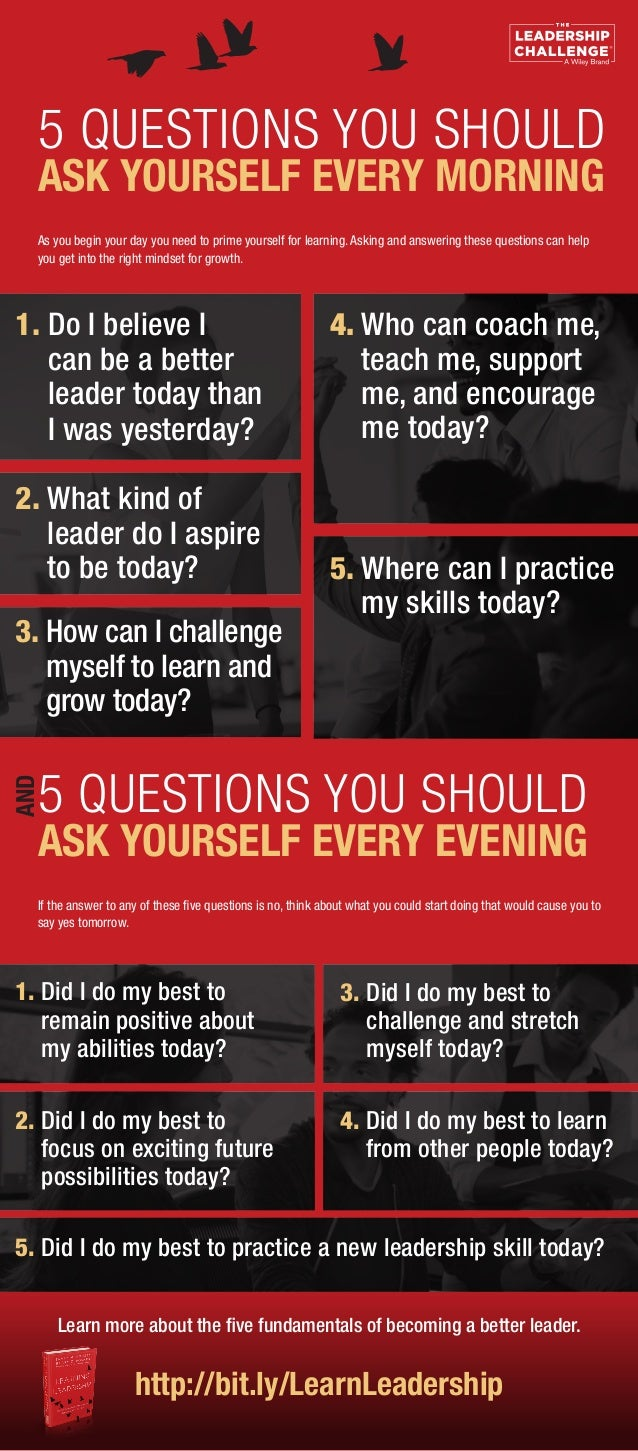 As you begin your day you need to prime yourself for learning. Asking and answering these questions can help you get into ...