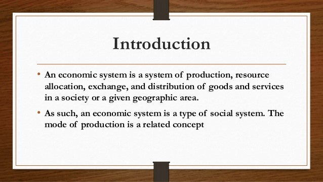 introduction to economic systems