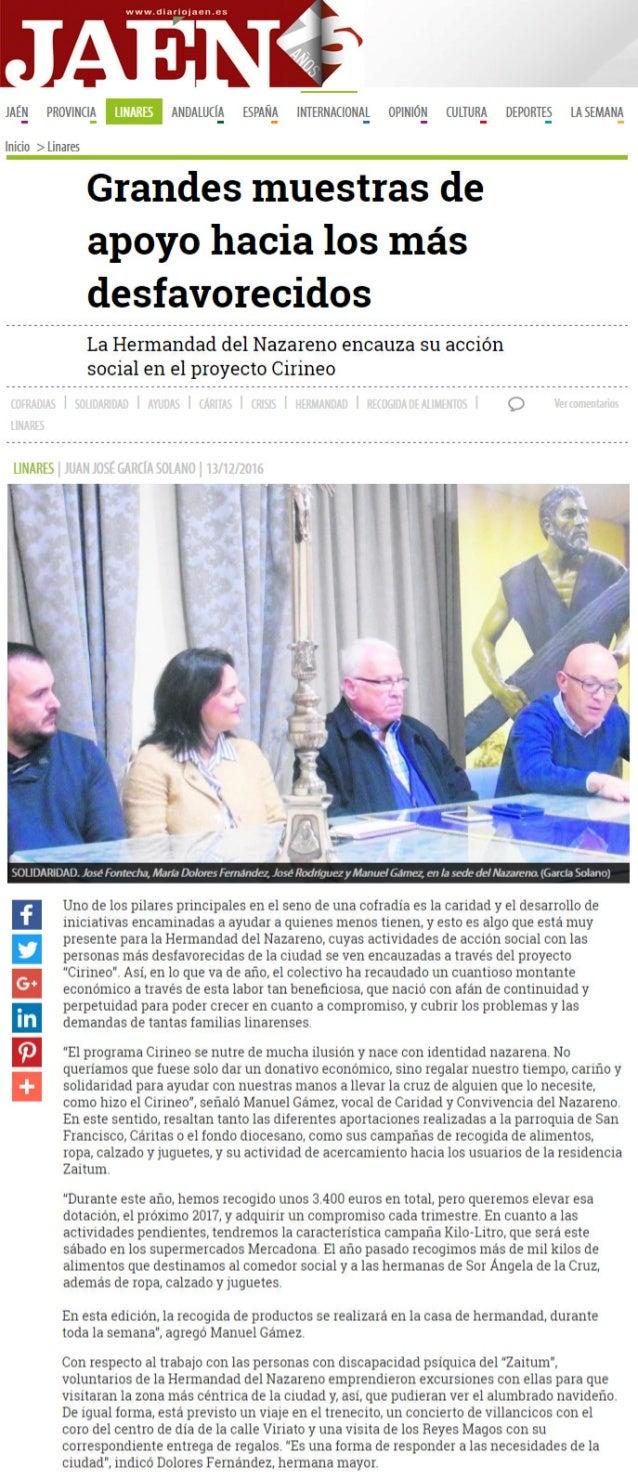 161213 DIARIO JAEN Proyecto Social