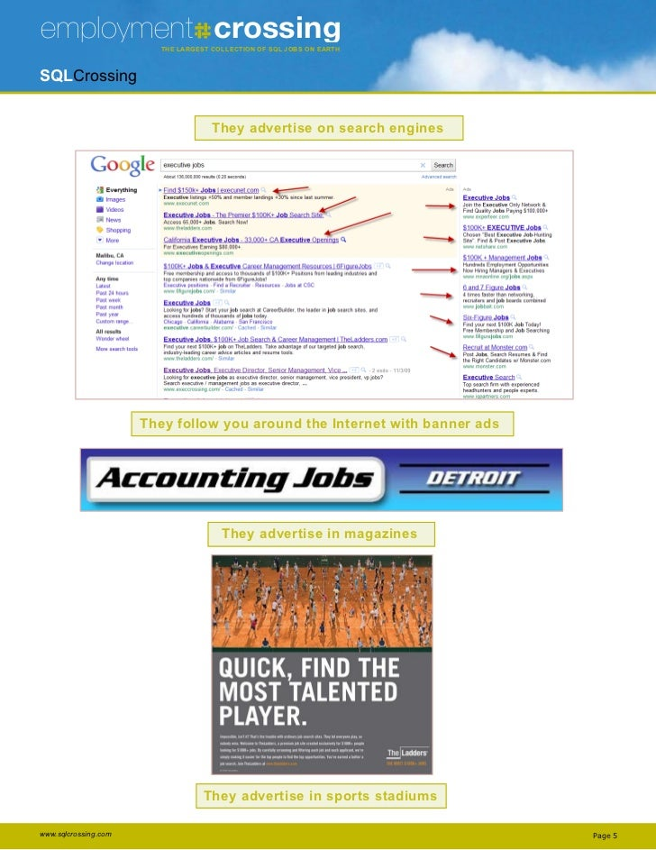 employment crossing     The THE LARGEST COLLECTION OF JOBS ON EARTH                            LargesT CoLLeCTion of sQL J...
