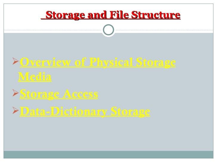 Storage  U0026 File Strucure In Dbms