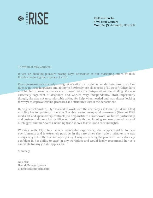 Recommendation letter ellyn recommendation letter ellyn rise kombucha 4795 boul couture montral st lonard h1r 3h7 to spiritdancerdesigns Images