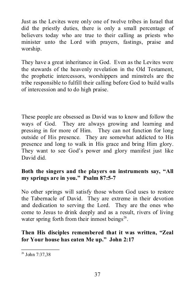 Restoration of the Levitical Priesthood: The Setting up of the Tabernacle of David (Hosting the LORD'S Glory on Earth Book 4)