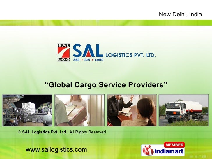 """"""" Global Cargo Service Providers"""" ©  SAL Logistics Pvt. Ltd. , All Rights Reserved"""