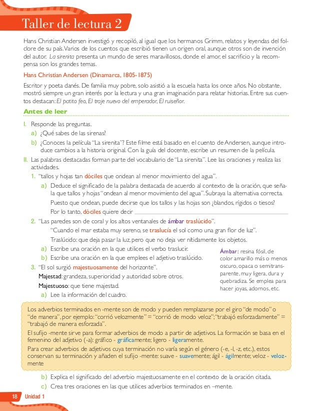 Lenguaje y Comunicación 6º, Texto del Estudiante